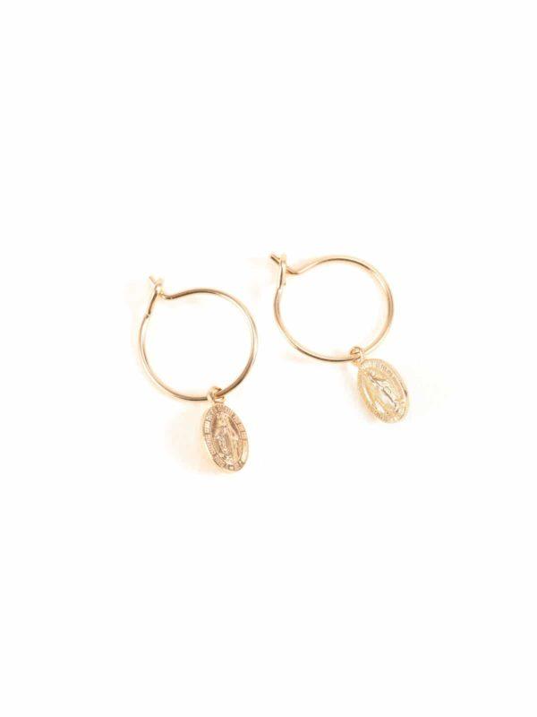 boucles-oreilles-mini-créoles médaille-miracle-luj-paris-bijou