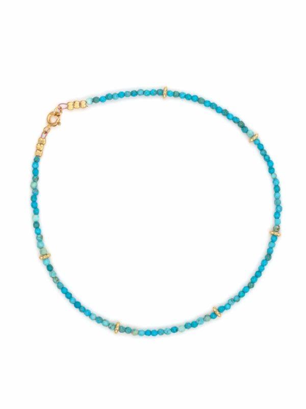 bracelet-cheville-turquoise-facetee