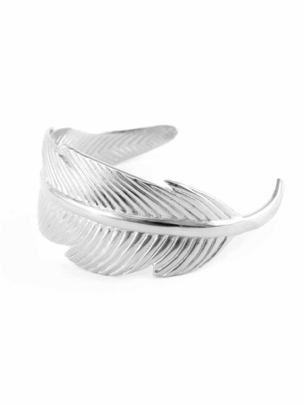 silvery-feather-wrist-cuff