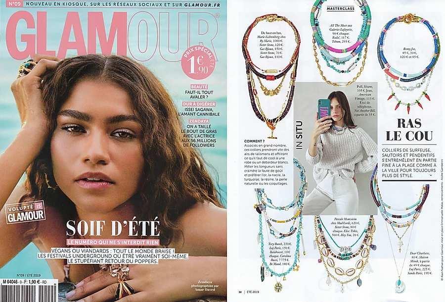 glamour-parution-luj-paris--collier-ras-de-cou-rondelle-turquoise-et-or
