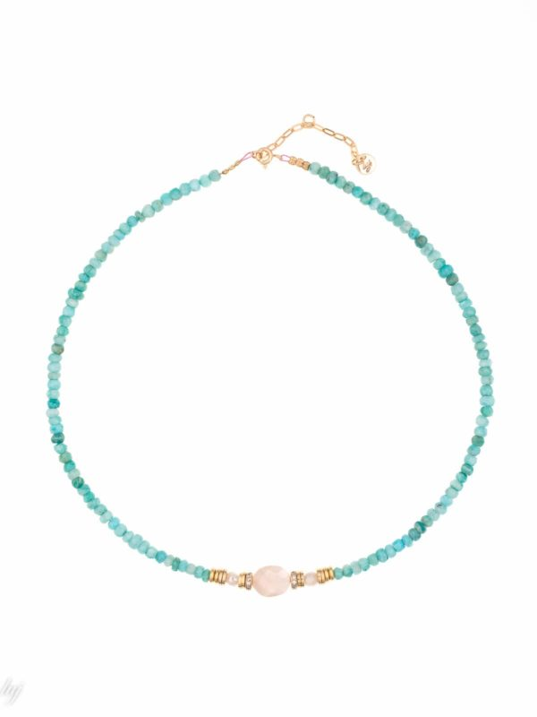 Collier Ras De Cou Amazonite Savenia Luj Paris Bijou