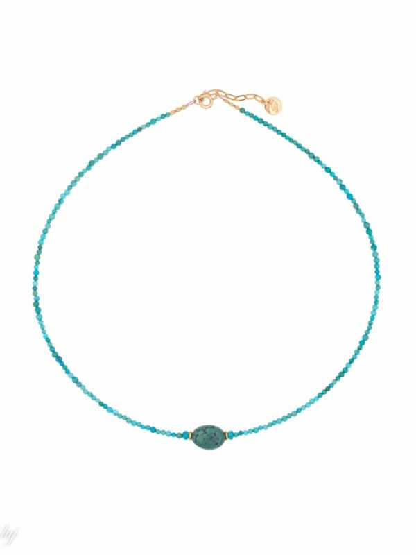 Amazonite and Moonstone Saveria Choker