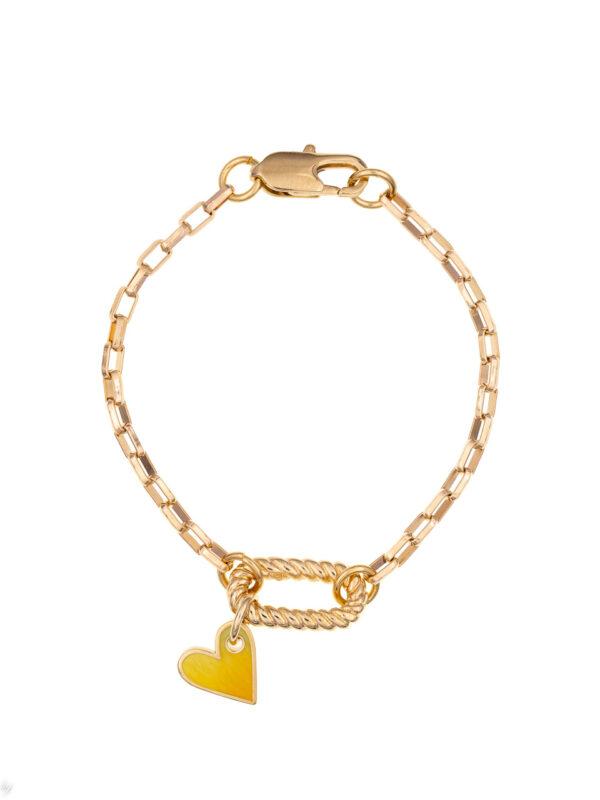 Bracelet Charm Coeur Emaille Juliette Luj Paris Bijou