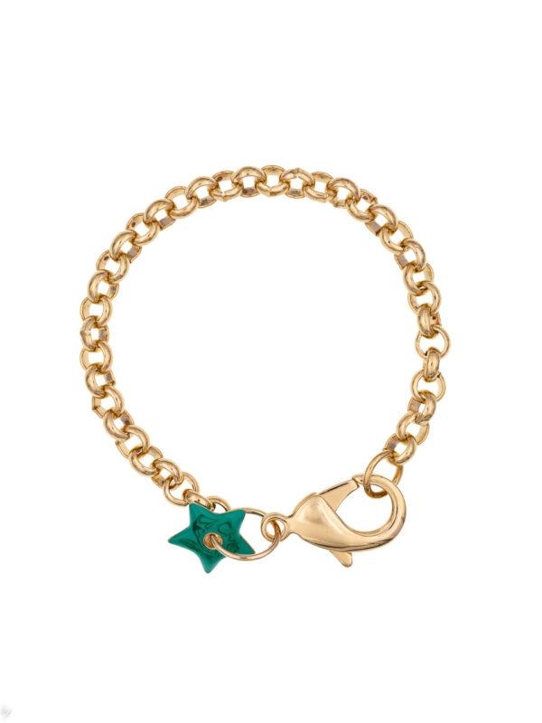 Bracelet Charm Etoile Emaille Anemone Luj Paris Bijou