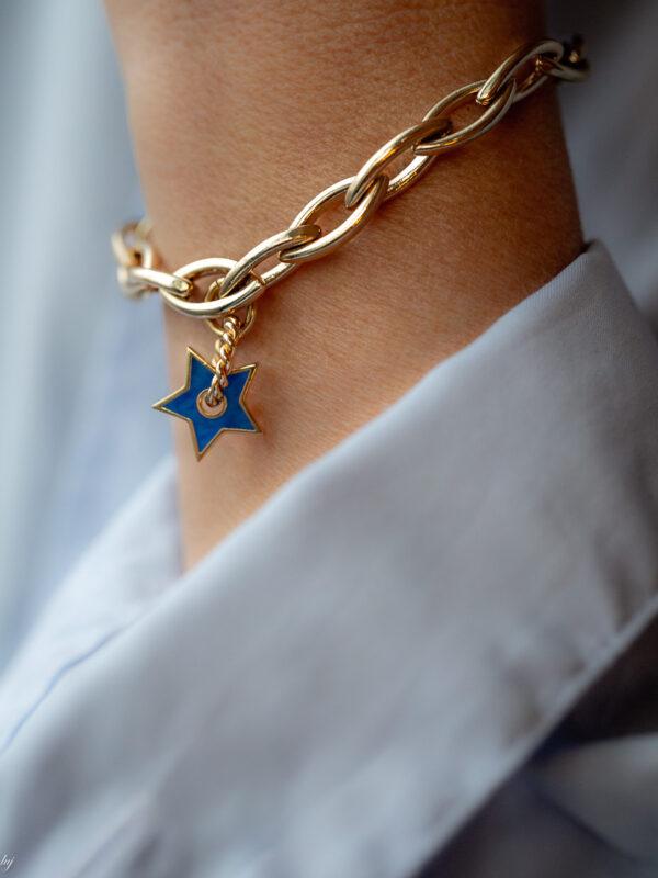 Bracelet Charm Etoile Emaille Java 3 Luj Paris Bijou