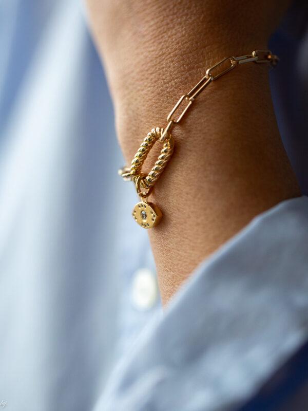 Bracelet Charm Oeil Garance 3 Luj Paris Bijou