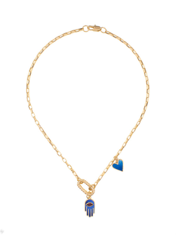 Collier Multicharms Emaille Lina Luj Paris Bijou