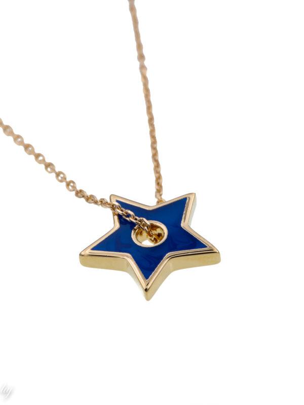 collier ras de cou charm etoile bleu angie 2 luj paris bijou