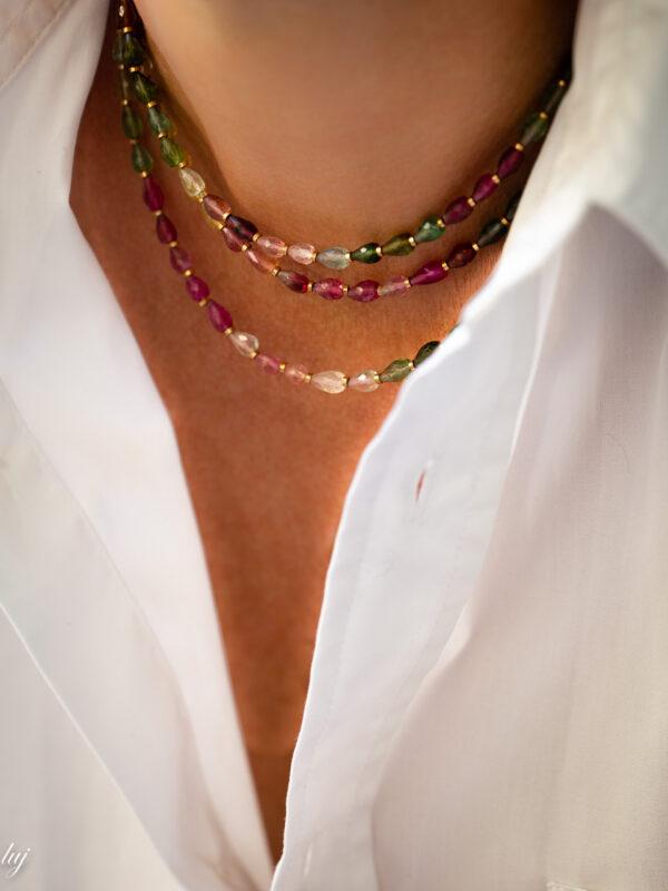 collier ras de cou tourmaline multicolor capucine 2 luj paris bi