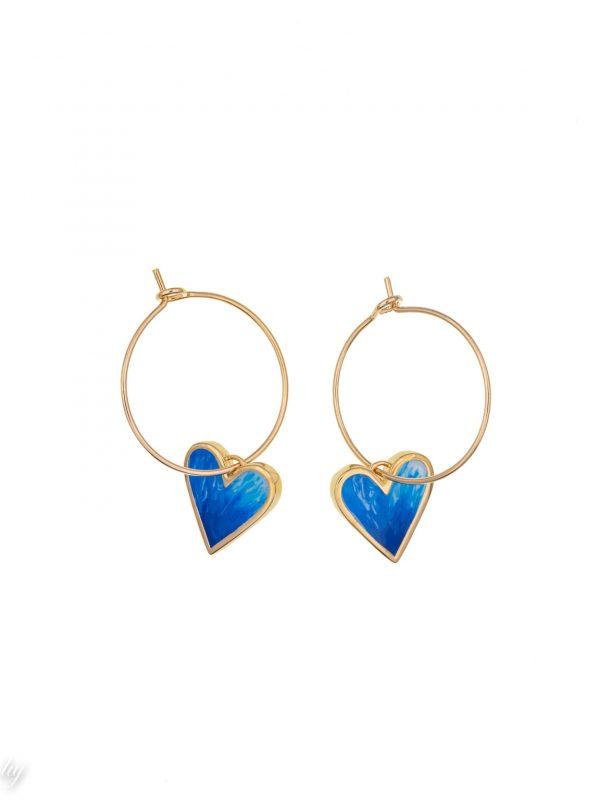 creole charm coeur bleu emaille andrea luj paris bijou
