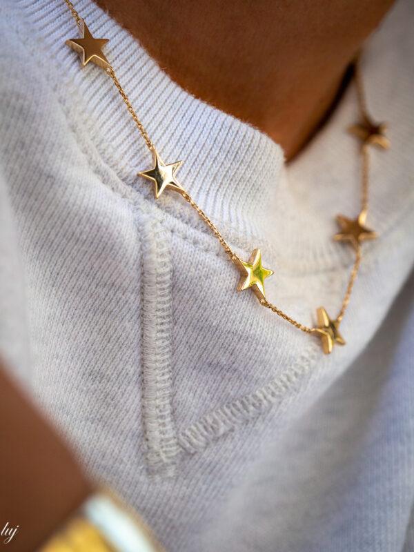 collier fin etoile greta luj paris bijou